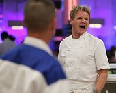 Gordon Ramsay during dinner service in the allnew 13 Chefs Compete episode of HELLS KITCHEN airing Tuesday April 7 2015 on FOX