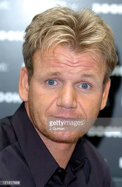 Gordon Ramsay during Gordon Ramsay Signs Copies of his New Book 'Ramsay's Kitchen Heaven' at Books Etc Canary Wharf in London Great Britain