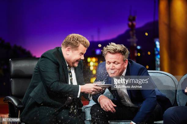 Gordon Ramsay eats a fish's eye during 'The Late Late Show with James Corden' Tuesday August 1 2017 On The CBS Television Network
