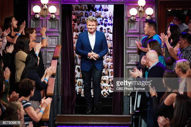 Gordon Ramsay greets the audience during 'The Late Late Show with James Corden' Tuesday August 1 2017 On The CBS Television Network