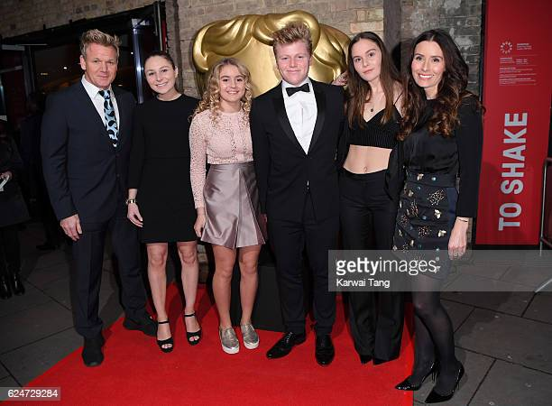 Gordon Ramsay Holly Anna Ramsay Matilda Ramsay Jack Scott Ramsay Megan Jane Ramsay and Tana Ramsay attend the BAFTA Children's Awards at The...