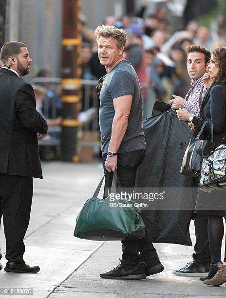Gordon Ramsay is seen at 'Jimmy Kimmel Live' on October 25 2016 in Los Angeles California