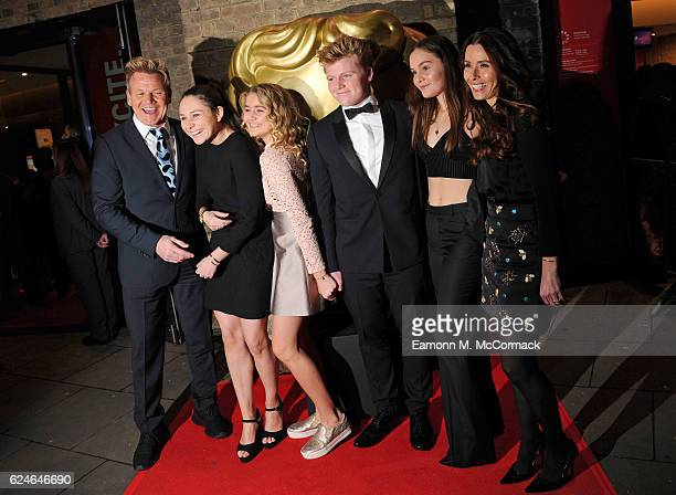 Gordon Ramsay Megan Ramsay Matilda Ramsay Jack Ramsay Holly Ramsay and Tana Ramsay at the BAFTA Children's Awards at The Roundhouse on November 20...