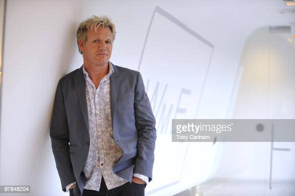 Gordon Ramsay poses for a picture at the Launch of his 'One Potato Two Potato Inc' production company on March 18 2010 in Beverly Hills California
