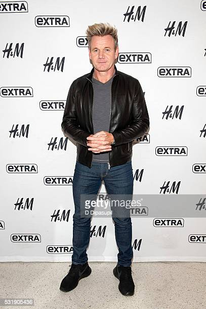 Gordon Ramsay visits 'Extra' at their New York studios at HM in Times Square on May 17 2016 in New York City
