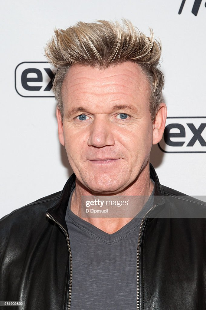 Gordon Ramsay visits 39;Extra39; at their New York studios at Hamp;M in