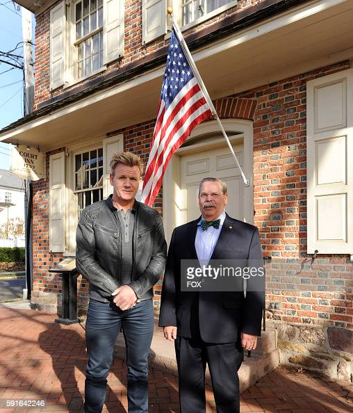 Gordon Ramsay with the hotel owner in the allnew Brick Hotel episode of HOTEL HELL airing Tuesday June 28 on FOX