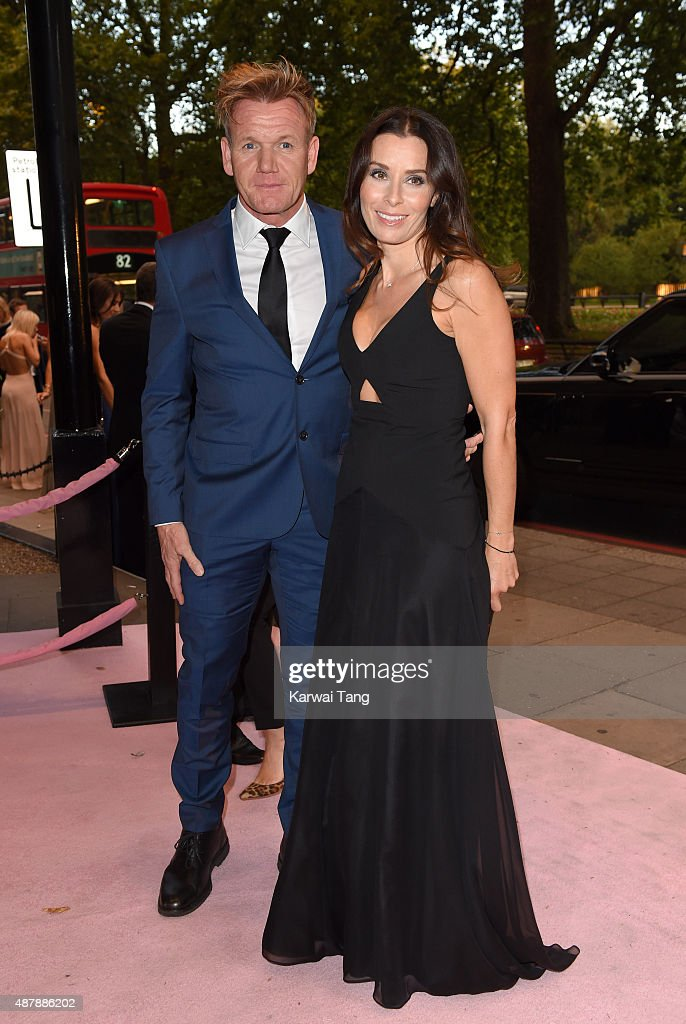 Gordon Ramsey and Tana Ramsay attend the Boodles Boxing Ball at The Grosvenor House Hotel on September 12 2015 in London England