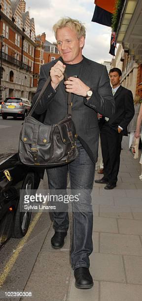 Gordon Ramsey leaving Claridges Hotel on June 24 2010 in London England