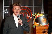 Gordon Ramsey of 'Masterchef' Celebrates 100 Episodes at Walt Disney Studio Lot on February 5 2015 in Burbank California