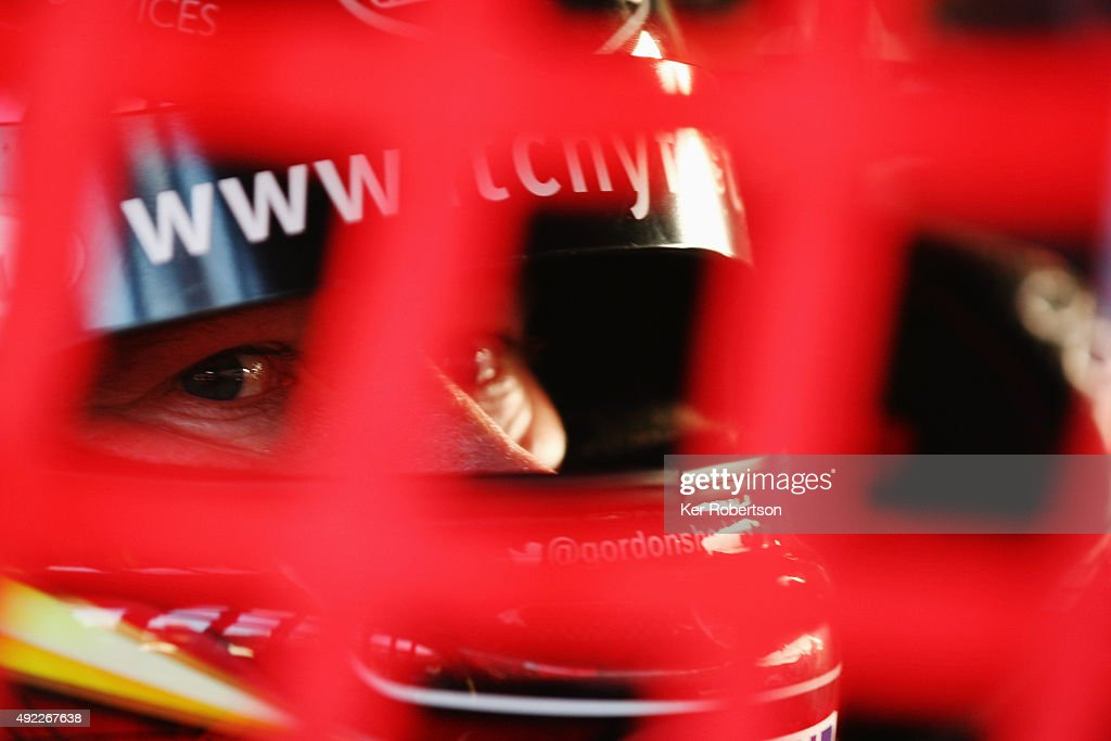 Gordon Shedden of Honda Racing prepares to drive during Race Three of the Final Round of the Dunlop MSA British Touring Car Championship at Brands Hatch on October 11, 2015 in Longfield, England.