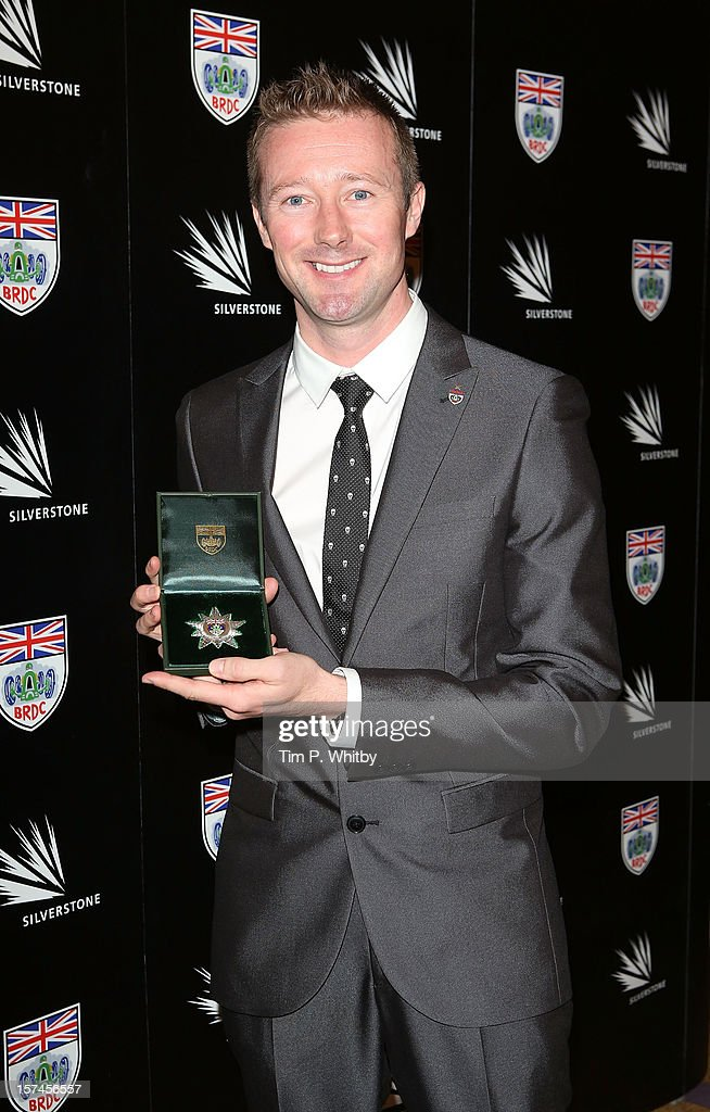 Gordon Shedden with the BRDC Silver Star awarded to a member of the BRDC who has shown the strongest performance of the year in domestic motorsport at the British Racing Drivers Club awards at Grand Connaught Rooms on December 3, 2012 in London, England.