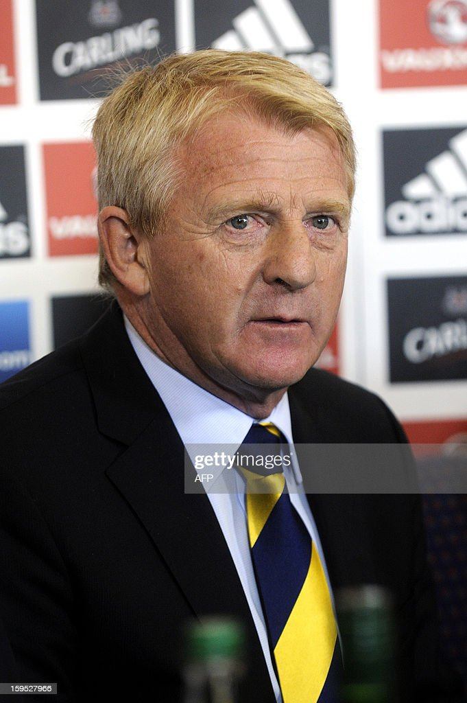 Gordon Strachan attends a press conference announcing his appointment as manager for Scotland's football team in Glasgow on January 15, 2013. Strachan, a former Scotland midfielder, had long been the favourite to replace Craig Levein, who was sacked in November after a poor start to a World Cup qualifying campaign left Scotland's hopes of playing at Brazil 2014 in tatters.