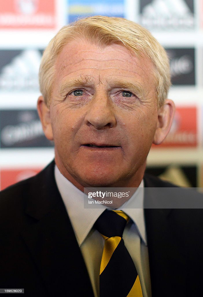 Gordon Strachan attends a press conference to be officially presented as the new national team coach of Scotland at Hampden Park Stadium on January 15, 2013 in Glasgow, Scotland.