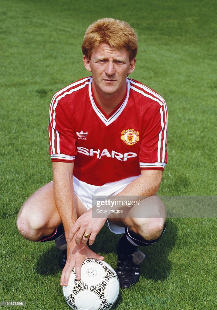 Gordon Strachan pictured at the Manchester United photocall ahead of the 1987/88 season.