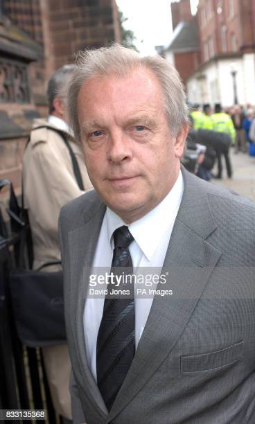 Gordon Taylor Chief Executive of the PFA arrives for Derek Dougan's funeral service at St Peter's Collegiate Church Wolverhampton