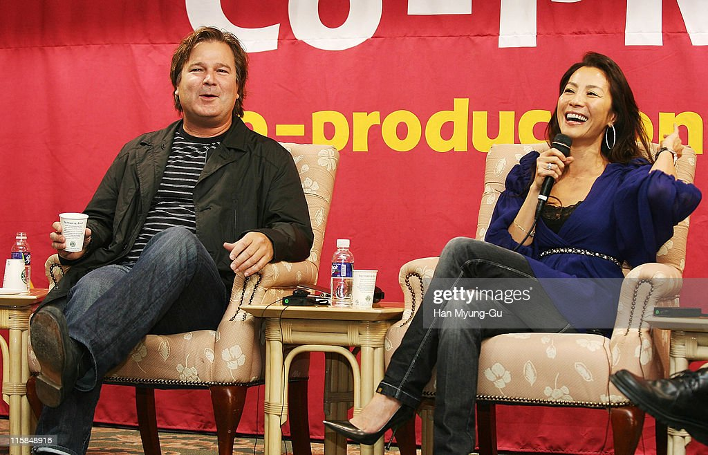 Gore Verbinski and Actress Michelle Yeoh attends Star Summit Asia Round Talk on the sixth day of the Pusan International Film Festival 2007 at Grand...