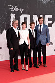 Gore Verbinski Ruth Wilson Jerry Bruckheimer and Armie Hammer attend the premiere of 'Lone Ranger' at Sony Centre on July 19 2013 in Berlin Germany