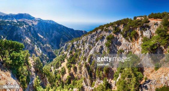 Gorge in mountains : Stock Photo