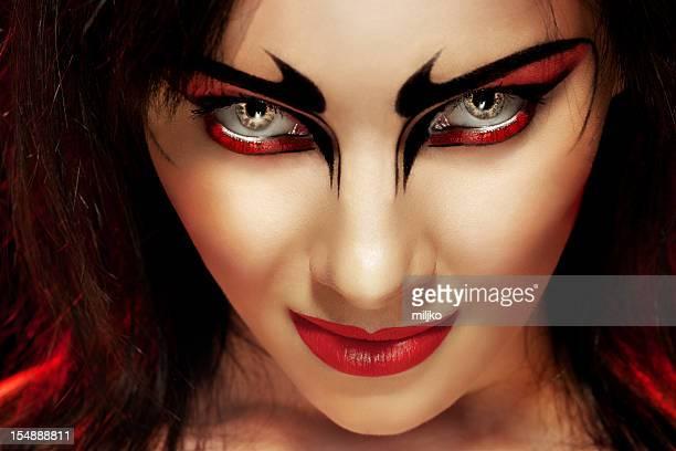 Gorgeous demon woman