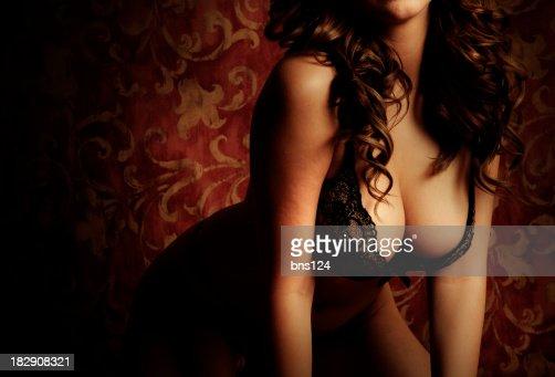 Gorgeous Voluptuous  Brunette Model in Lingerie