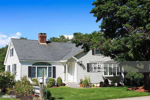 Gorgeous White Clapboard House, Ogunquit, Maine, New England, USA.