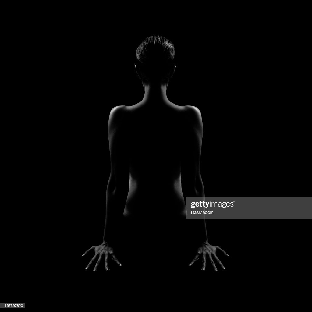 ゴージャスな女性から、ブラックとホワイトのバック : ストックフォト