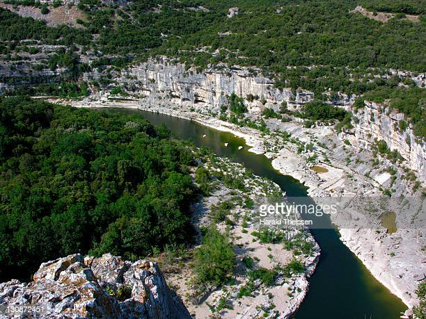 Gorges of the river Ardeche in southern France