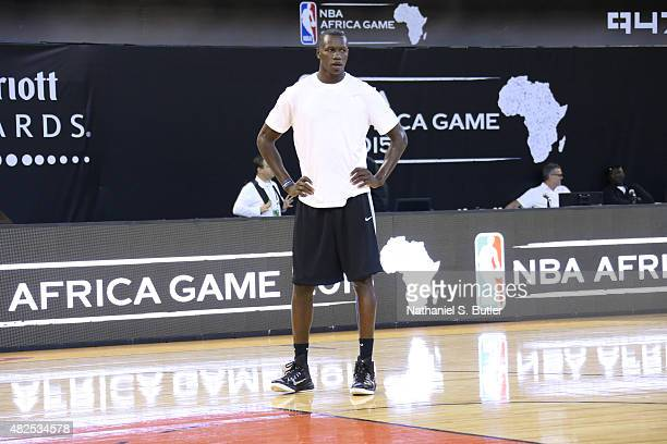 Gorgui Dieng of Team Africa during practice for the NBA Africa Game 2015 as part of Basketball Without Borders on July 31 2015 at the Ellis Park...