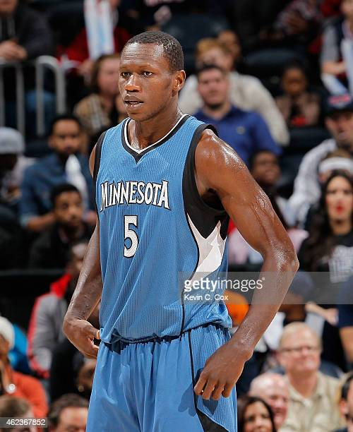 Gorgui Dieng of the Minnesota Timberwolves against the Atlanta Hawks at Philips Arena on January 25 2015 in Atlanta Georgia NOTE TO USER User...