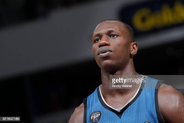 Gorgui Dieng of the Minnesota Timberwolves looks on during the game against the Sacramento Kings on April 7 2016 at Sleep Train Arena in Sacramento...