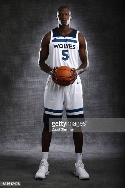 Gorgui Dieng of the Minnesota Timberwolves pose for portraits during 2017 Media Day on September 22 2017 at the Minnesota Timberwolves and Lynx...