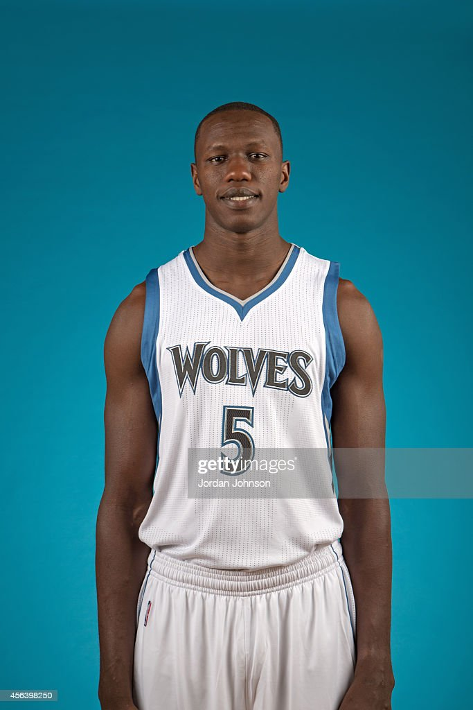 Gorgui Dieng of the Minnesota Timberwolves poses for a portrait during 2014 NBA Media Day on September 29, 2014 at the Minnesota Timberwolves and Lynx LifeTime Fitness Training Center at Target Center in Minneapolis, Minnesota.