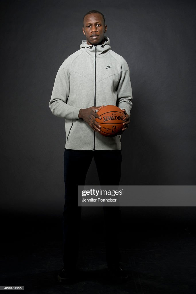 <a gi-track='captionPersonalityLinkClicked' href=/galleries/search?phrase=Gorgui+Dieng&family=editorial&specificpeople=7363274 ng-click='$event.stopPropagation()'>Gorgui Dieng</a> #5 of the Minnesota Timberwolves poses for portraits during the NBAE Circuit as part of 2015 All-Star Weekend at the Sheraton Times Square Hotel on February 13, 2015 in New York, New York.