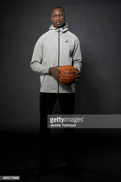 Gorgui Dieng of the Minnesota Timberwolves poses for portraits during the NBAE Circuit as part of 2015 AllStar Weekend at the Sheraton Times Square...