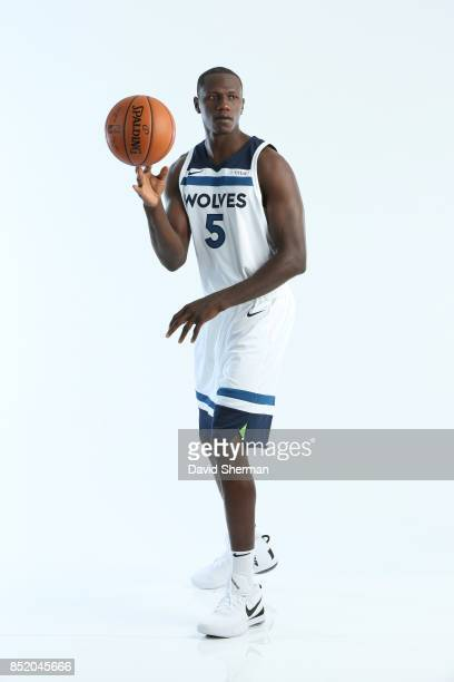 Gorgui Dieng of the Minnesota Timberwolves poses for portraits during the 2017 Media Day on September 22 2017 at the Minnesota Timberwolves and Lynx...