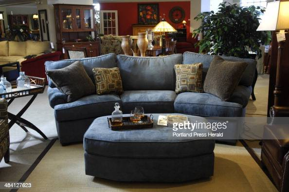 At Crockett Interiors In Gorham A Sofa Called The Hogan Is Complemented By Soft Blues And Browns An Pictures Getty Images