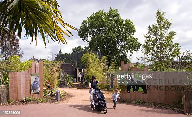 Gorilla Kingdom London Zoo London United Kingdom Architect Proctor Matthews Architects Gorilla Kingdom Main Entrance With Mother And Toddler