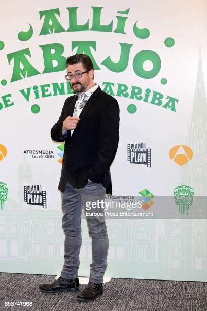 Gorka Aguinagalde attends the presentation of the third season of 'Alli Abajo' on March 15 2017 in San Sebastian Spain