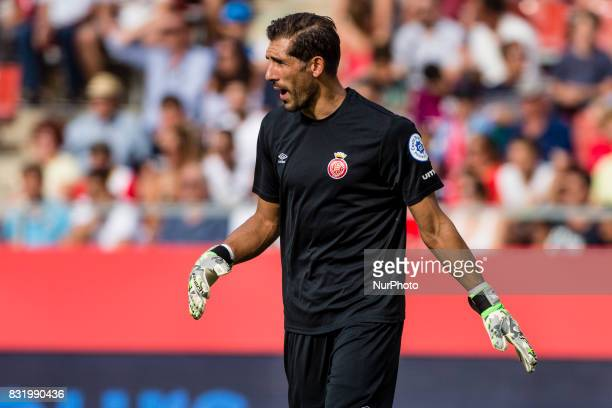 01 Gorka Iraizoz from Spain of Girona FC during the Costa Brava Trophy match between Girona FC and Manchester City at Estadi de Montilivi on August...