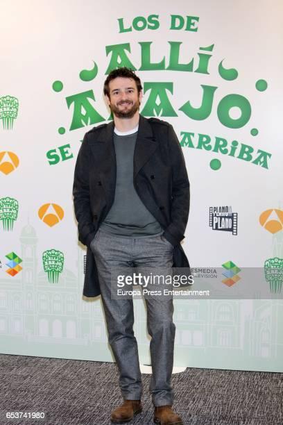 Gorka Otxoa attends the presentation of the third season of 'Alli Abajo' on March 15 2017 in San Sebastian Spain