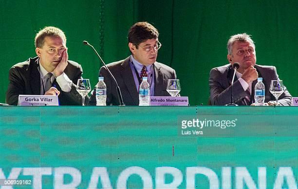 Gorka Villar General Director Alfredo Montanaro legal advisor and Former President Wilmar Valdez of CONMEBOL attend the Presidential Elections at...