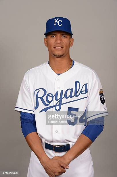 Gorkys Hernandez of the Kansas City Royals poses during Photo Day on Monday February 24 2014 at Surprise Stadium in Surprise Arizona