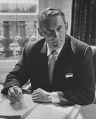 Goronwy Roberts new Minister of State pictured working at his desk in the Foreign Office London August 31st 1967