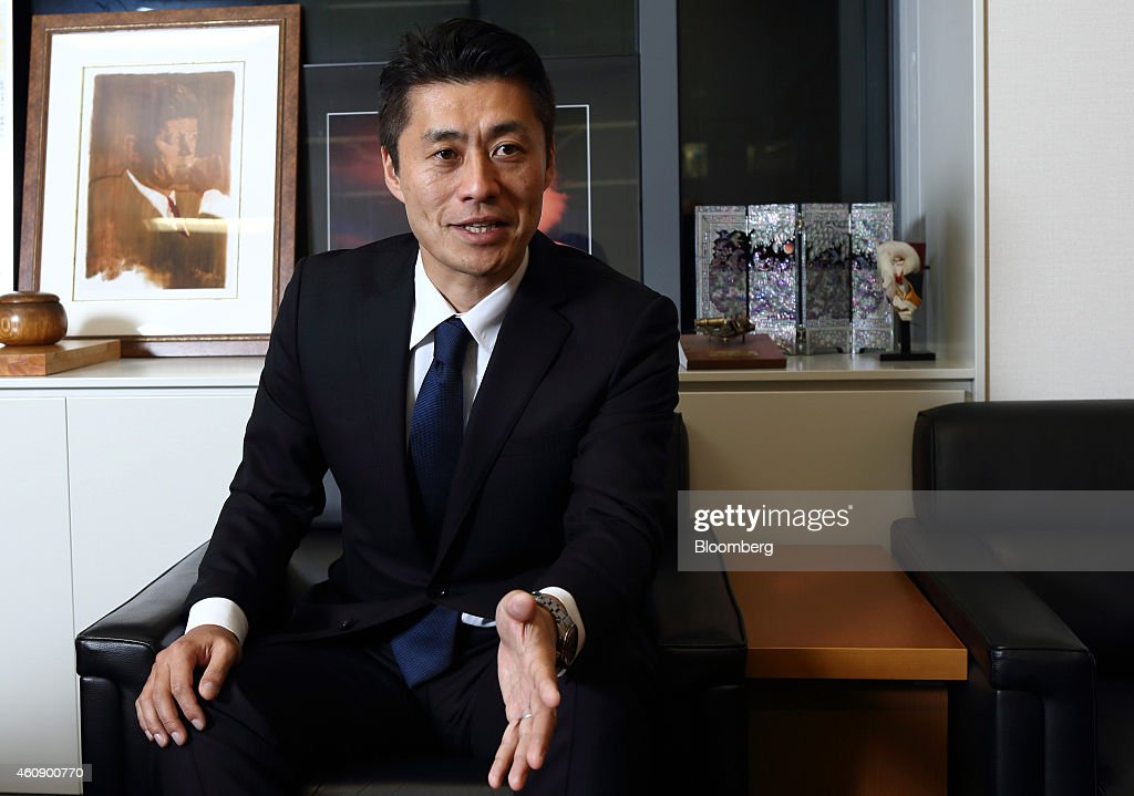 <a gi-track='captionPersonalityLinkClicked' href=/galleries/search?phrase=Goshi+Hosono&family=editorial&specificpeople=7721605 ng-click='$event.stopPropagation()'>Goshi Hosono</a>, a candidate for president of the Democratic Party of Japan (DPJ), speaks during an interview in Tokyo, Japan, on Monday, Dec. 29, 2014. Hosono is running for president of the opposition DPJ after leader Banri Kaieda lost his seat in last month's election defeat. Polls suggest that Hosono is lagging Katsuya Okada, a party stalwart and former foreign minister, in the race for the Jan. 18 election, although his main rival has been hospitalized for eye surgery. Photographer: Tomohiro Ohsumi/Bloomberg via Getty Images