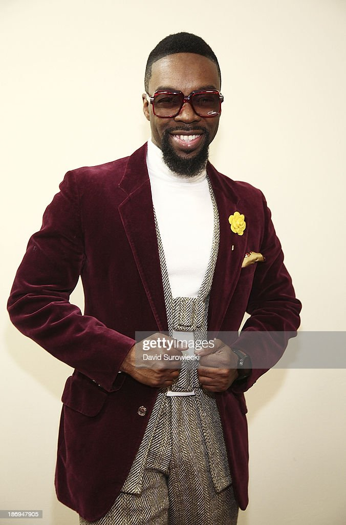 Gospel artist James Hall poses backstage at The First Cathedral following a live recording of JJ Hairston & Youthful Praise's seventh album 'I See Victory' on November 4, 2013 in Bloomfield, Connecticut.