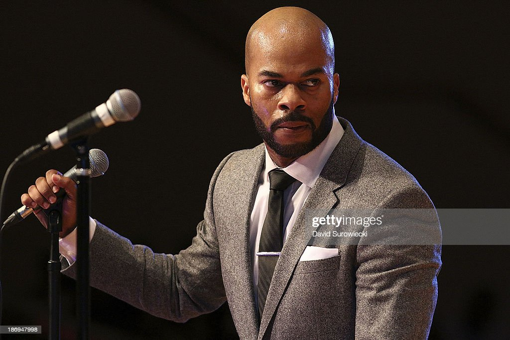 Gospel artist JJ Hairston performs at The First Cathedral during a live recording of JJ Hairston & Youthful Praise's seventh album 'I See Victory' on November 4, 2013 in Bloomfield, Connecticut.