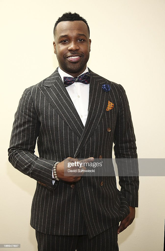 Gospel artist <a gi-track='captionPersonalityLinkClicked' href=/galleries/search?phrase=VaShawn+Mitchell&family=editorial&specificpeople=7287299 ng-click='$event.stopPropagation()'>VaShawn Mitchell</a> poses backstage at The First Cathedral following a live recording of JJ Hairston & Youthful Praise's seventh album 'I See Victory' on November 4, 2013 in Bloomfield, Connecticut.