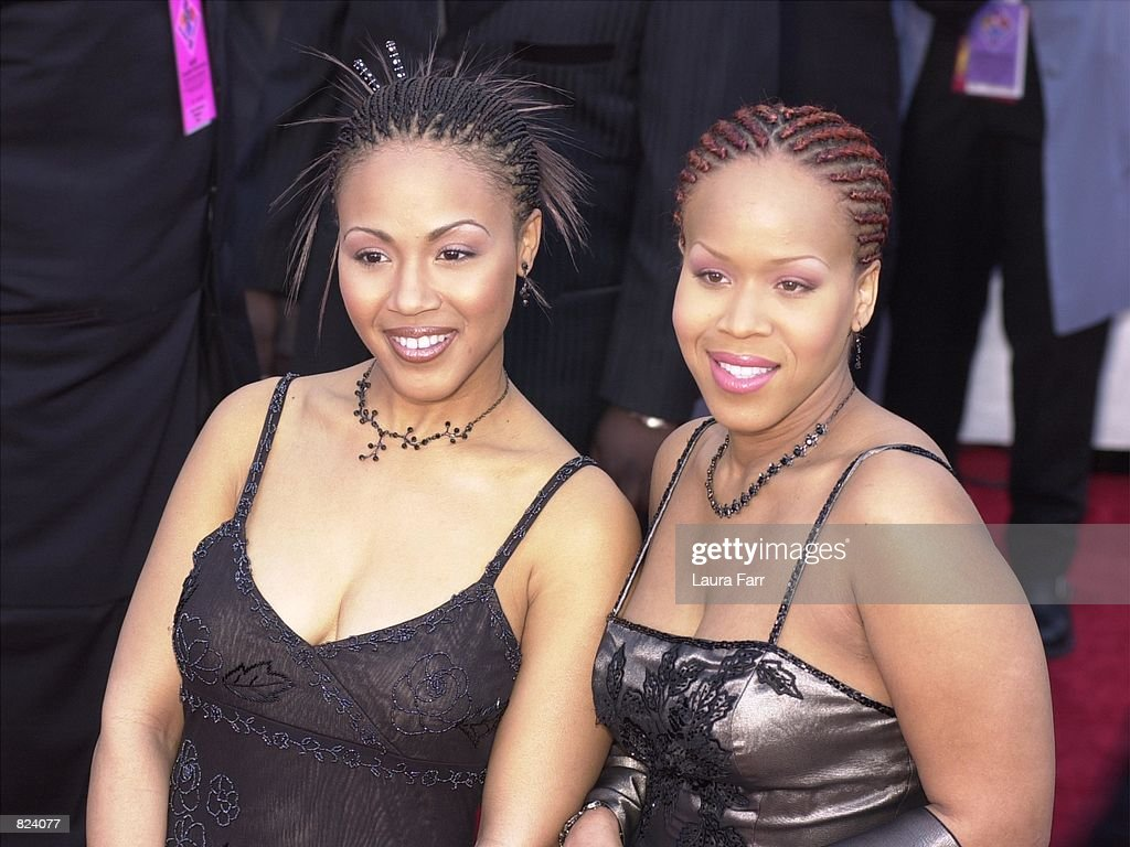 Gospel duo Mary Mary arrive at the 43rd Annual Grammy Awards February 21 2001 at Staples Center in Los Angeles CA