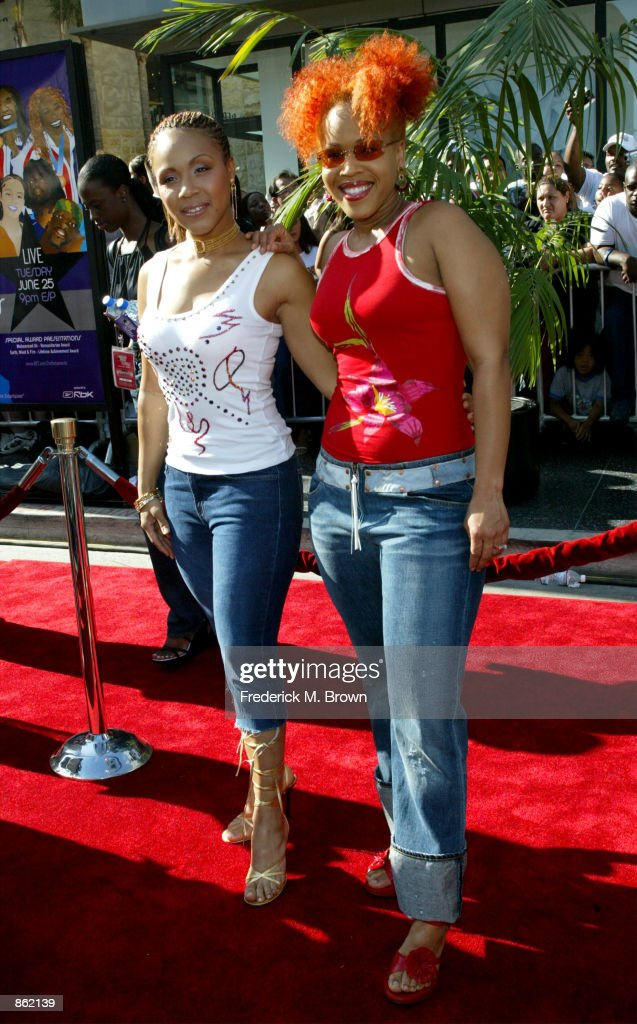Gospel duo Mary Mary attend the 2nd Annual BET Awards on June 25 2002 at the Kodak Theater in Hollywood California